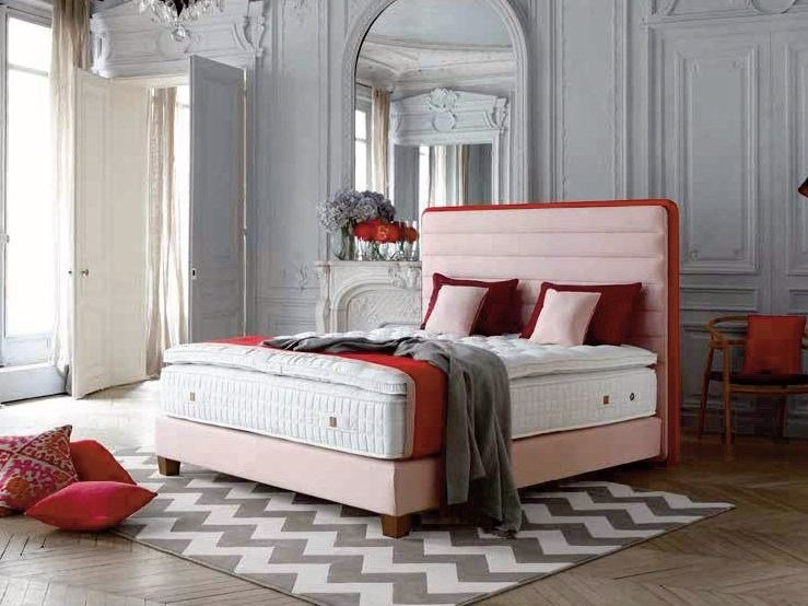 Fabric headboard for double bed LOUNGE by Treca Interiors