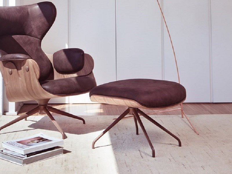 Contemporary style pouf LOUNGER | Pouf by BD Barcelona Design