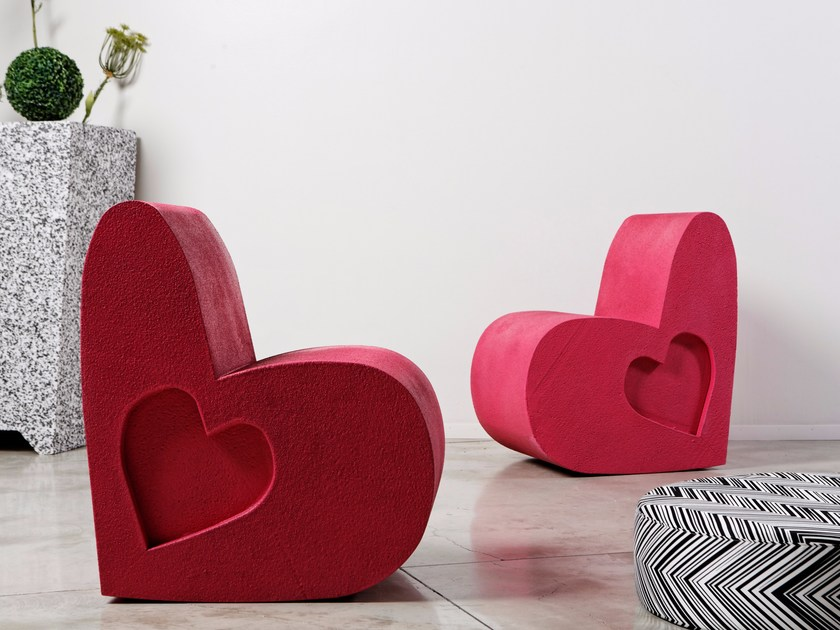 Poly Mass® easy chair LOVE by Be Different