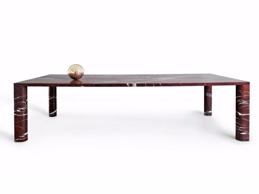 Rectangular marble table 'LOVE ME, LOVE ME NOT' | Rectangular table by SALVATORI