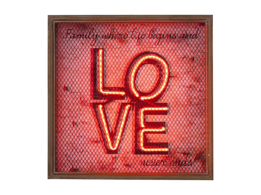 Wall decor item LOVE NEON GRID by KARE-DESIGN