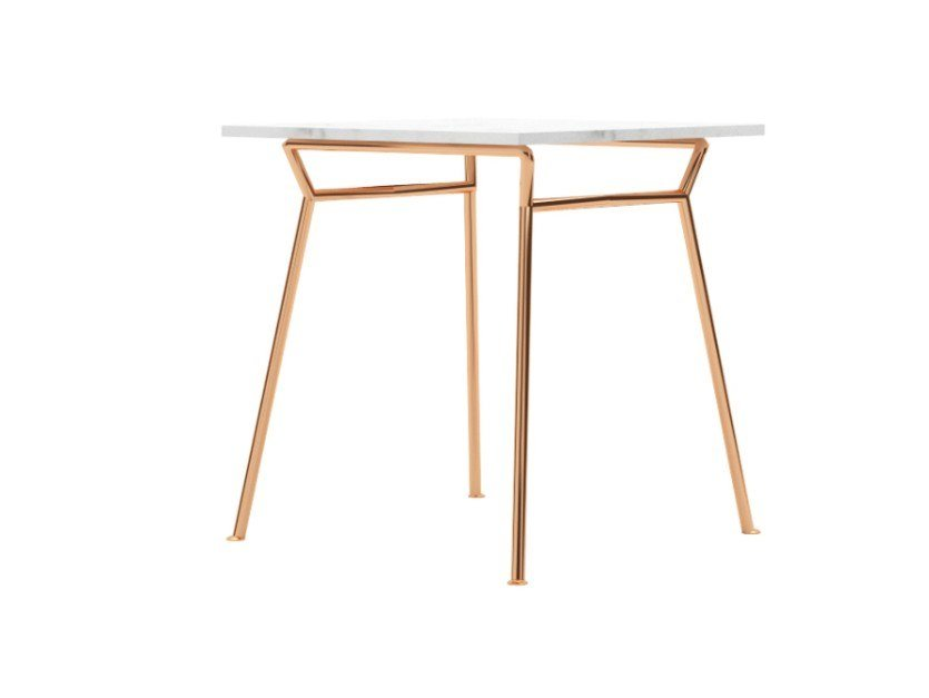 Square steel dining table LOVE | Square table by ZALABA Design