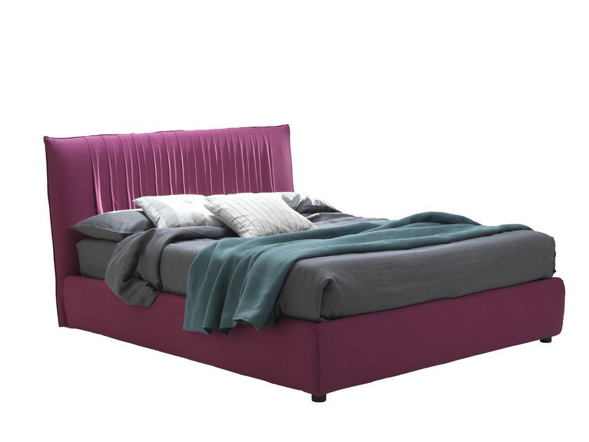 Fabric bed with high headboard LOVELY BIG by Bolzan Letti