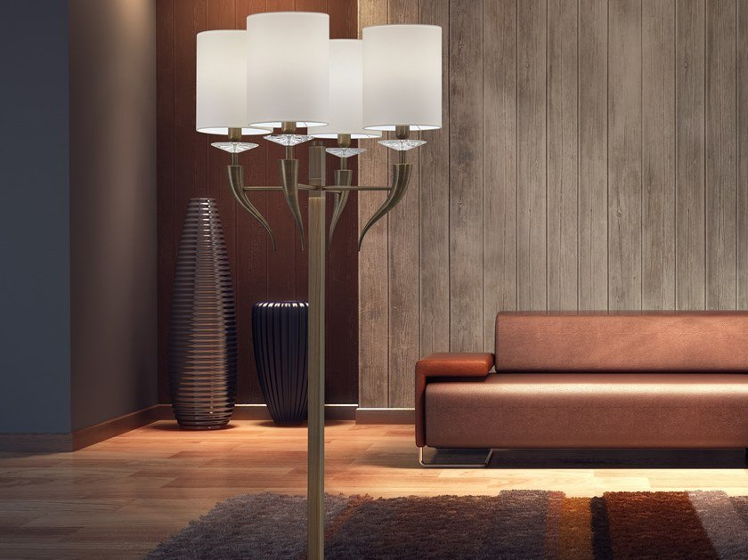 Metal floor lamp with crystals LOVING ARMS F4 by ILFARI