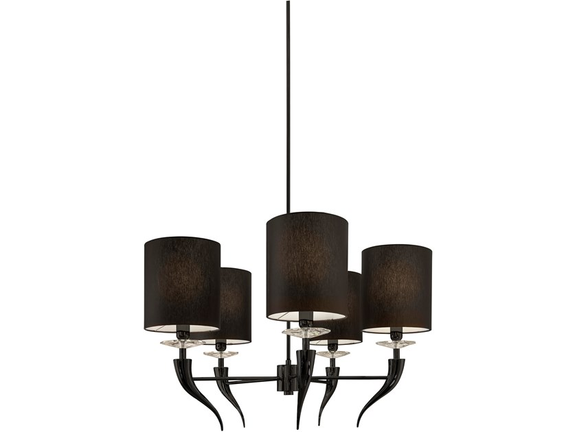 Metal pendant lamp with crystals LOVING ARMS H5 by ILFARI
