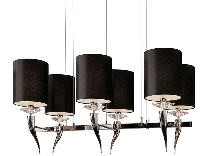 Metal pendant lamp with crystals LOVING ARMS H6 by ILFARI