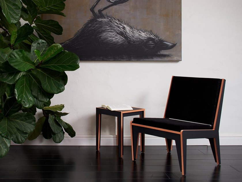 Self-assembling plywood low chair LOW CHAIR 12600G by Gram Design