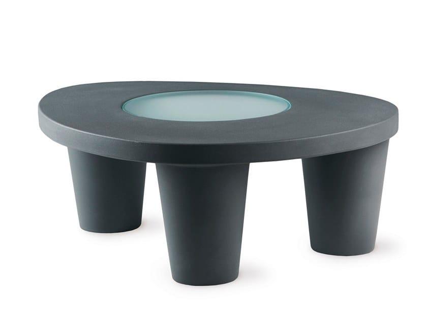 Polyethylene garden side table LOW LITA | Coffee table by SLIDE