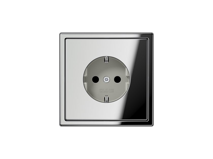 Chrome plated electrical outlet LS 990 | Chrome plated electrical outlet by JUNG
