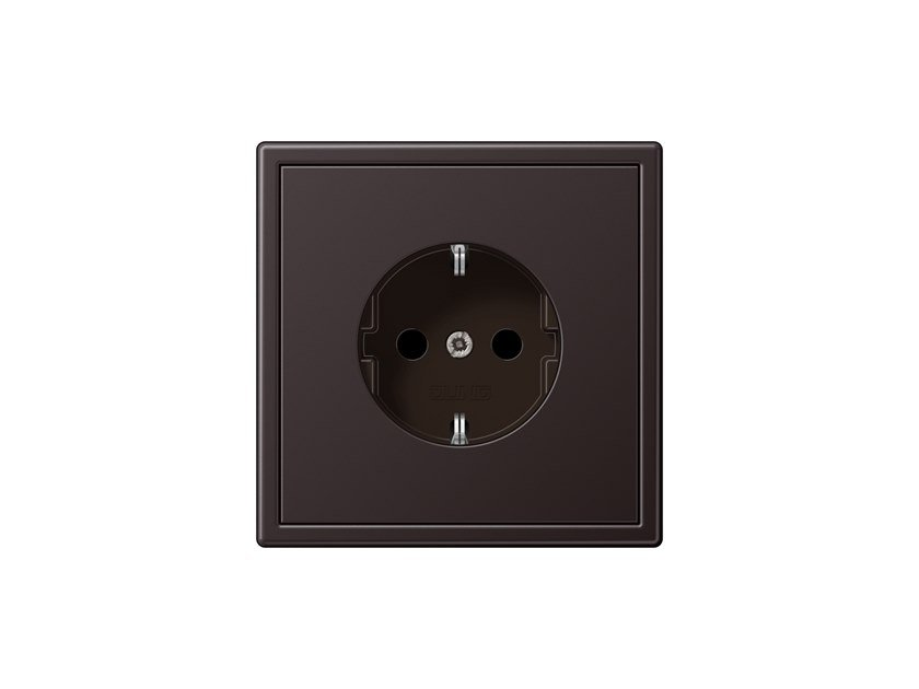 Aluminium electrical outlet LS 990 DARK | Electrical outlet by JUNG