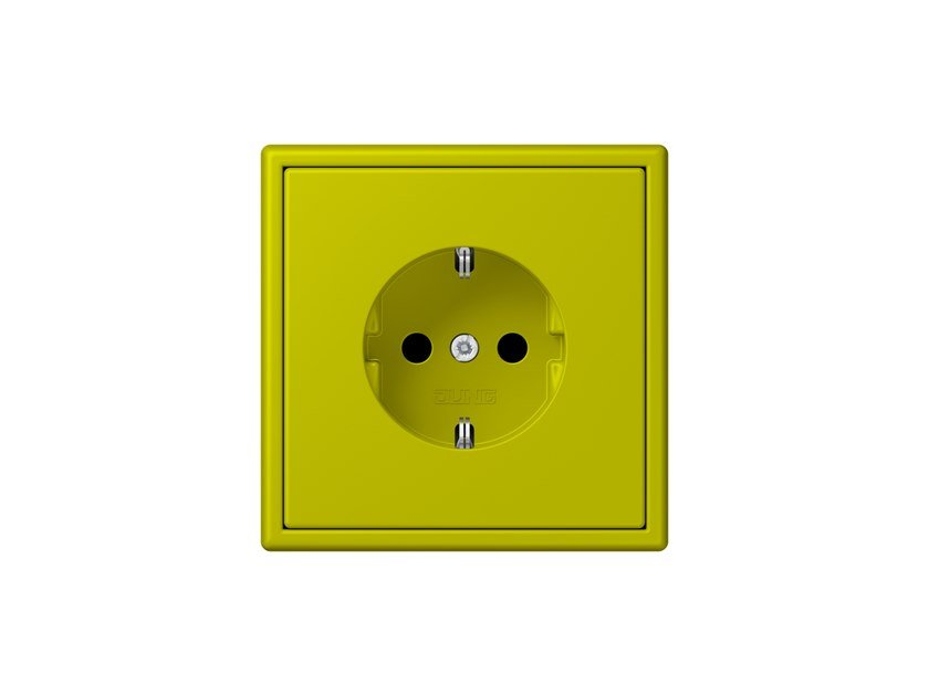 Plastic electrical outlet LS 990 LES COULEURS® LE CORBUSIER | Electrical outlet by JUNG