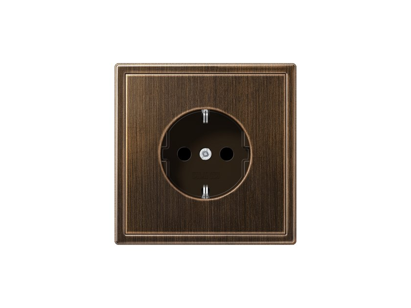 Brass electrical outlet LS 990 | Brass electrical outlet by JUNG