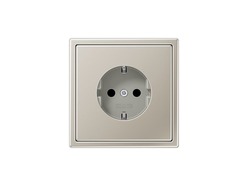 Presa elettrica in acciaio inox LS 990 | Presa elettrica in acciaio inox by JUNG
