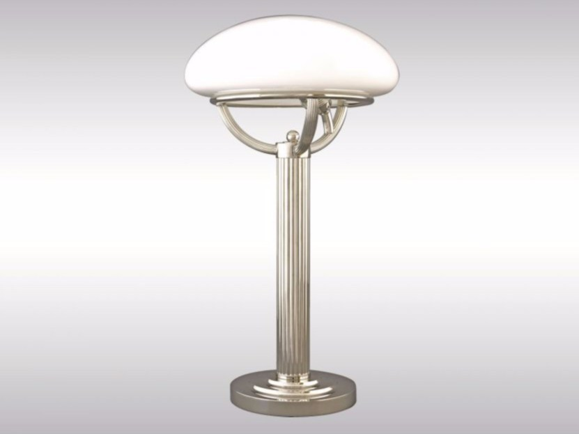 Opal glass table lamp LST1 by Woka Lamps Vienna