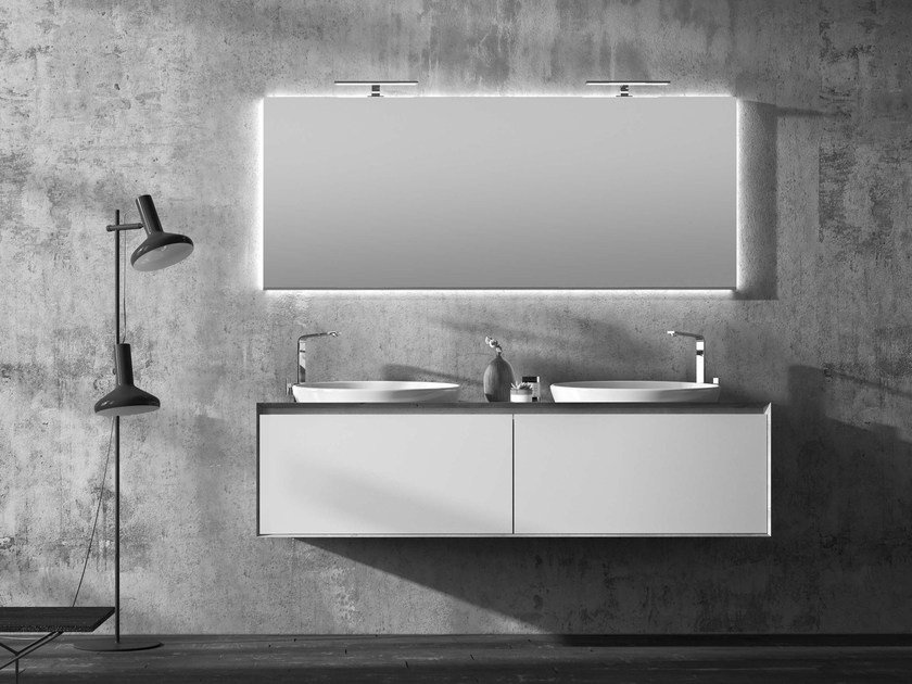 Double vanity unit LU.37 by Mobiltesino