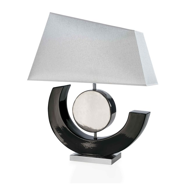 Contemporary style metal table lamp LUA by ENVY