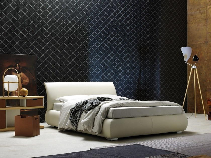 Upholstered double bed LUCAS by Silenia