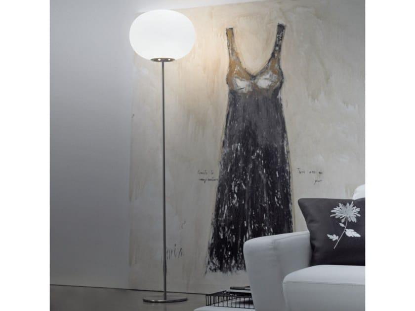 Blown glass floor lamp LUCCIOLA PT by Vetreria Vistosi