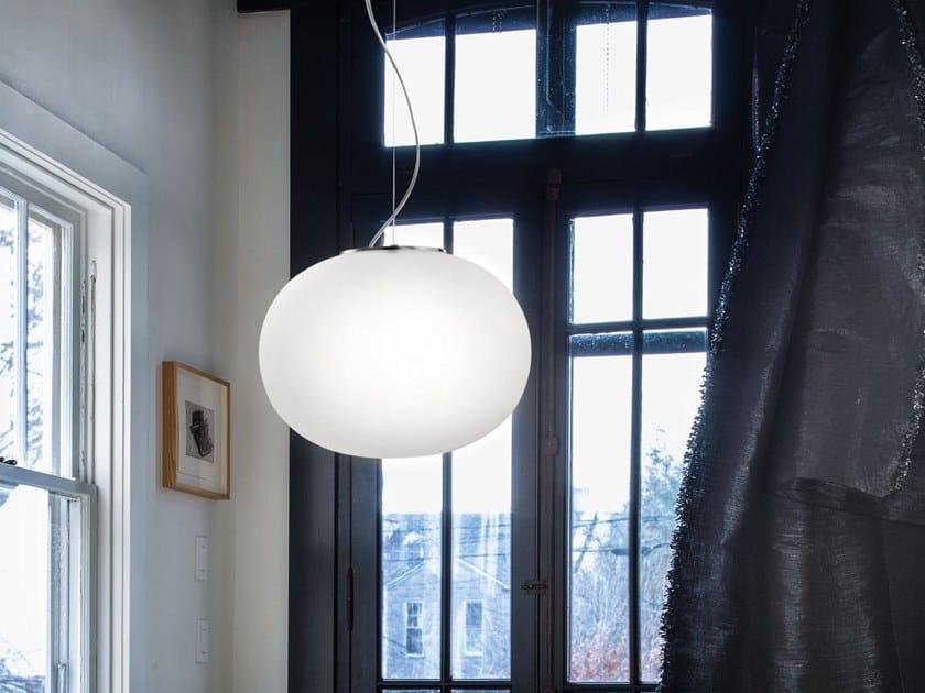 Blown glass pendant lamp LUCCIOLA SP by Vetreria Vistosi