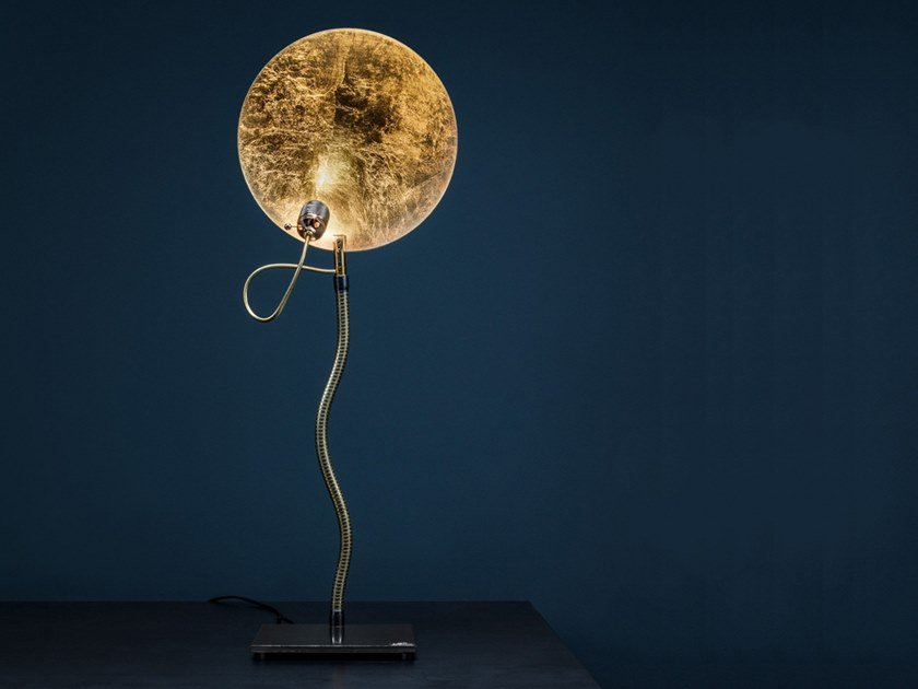 LED adjustable table lamp LUCE D'ORO T by Catellani & Smith