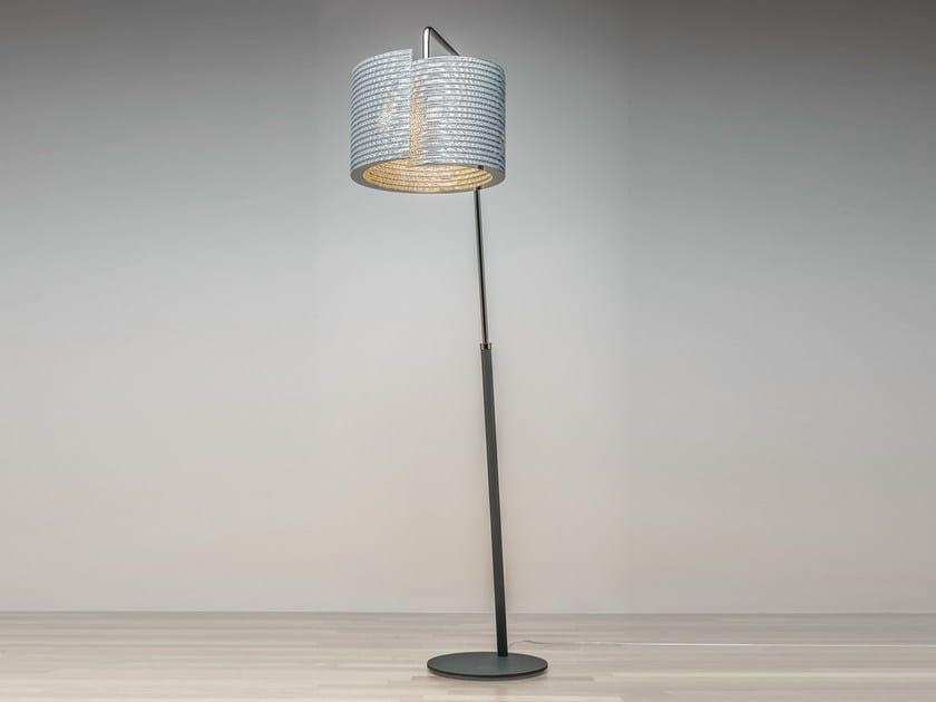 Kraft paper floor lamp @LUCE Shape by Staygreen
