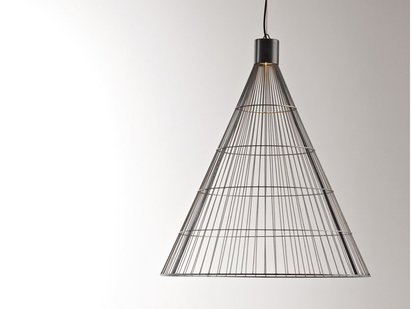 Metal pendant lamp LUCE SOLIDA by DE CASTELLI