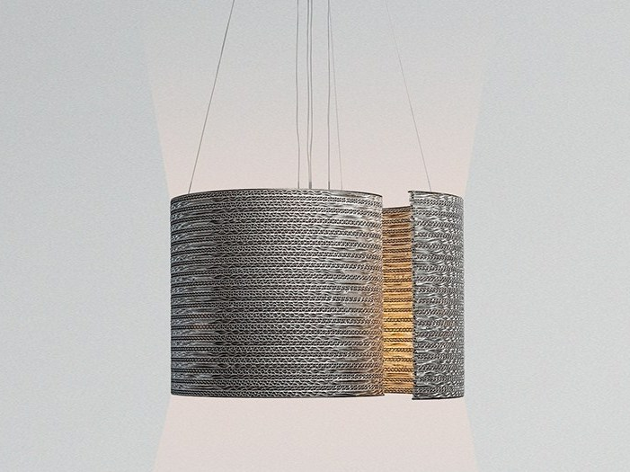 Kraft paper pendant lamp @LUCE mod. A by Staygreen