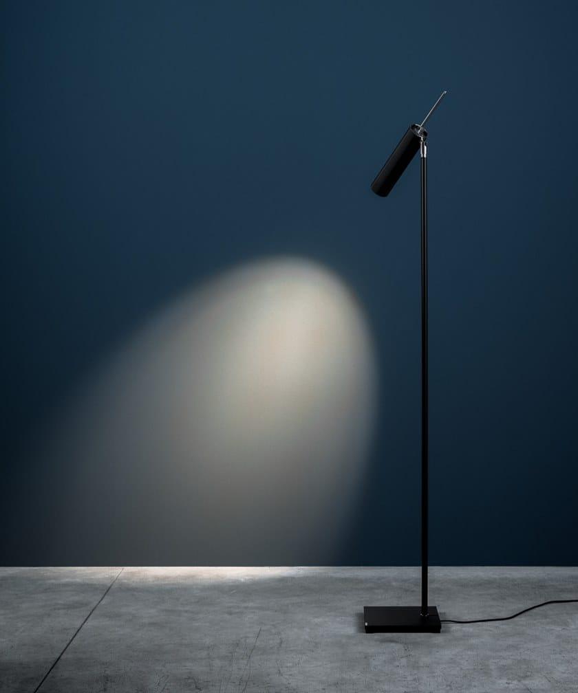 LED adjustable floor lamp LUCENERA 506 by Catellani & Smith