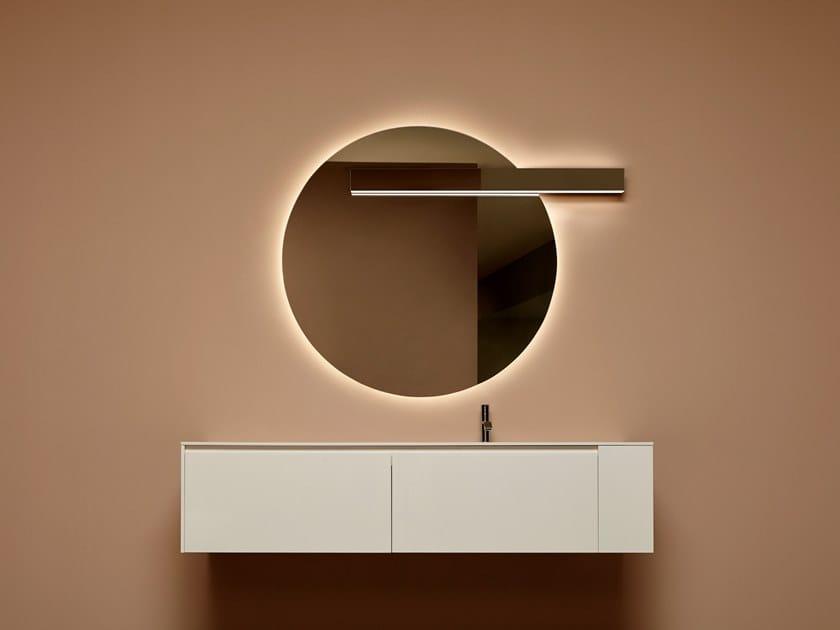 LED aluminium Mirror lamp LUCENTE by Antonio Lupi Design