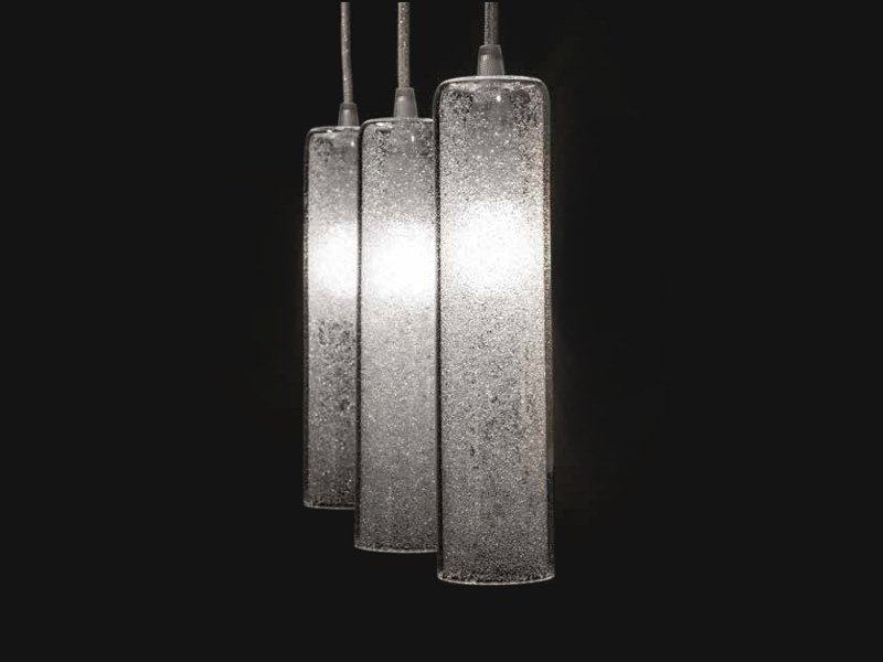 LED blown glass pendant lamp LUCENTE by ENGI