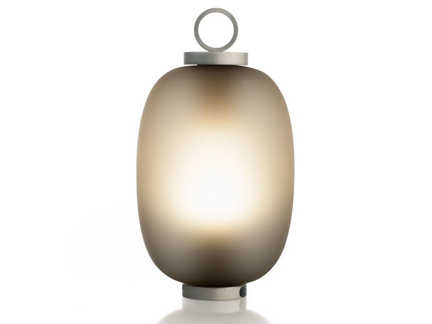 LED metal table lamp with rechargeable battery LUCERNA by Ethimo