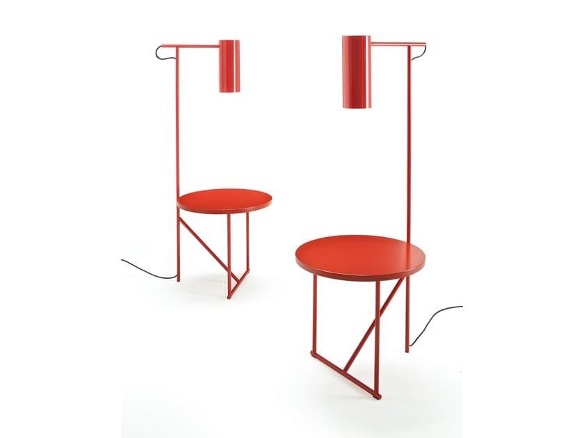 Luminária de pé / mesa de centro de metal com pintura LUCIGNOLO by ESTEL GROUP