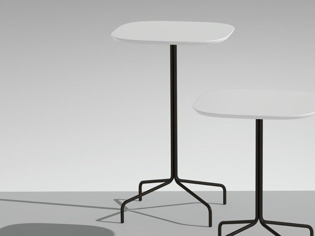 High table with 4-star base LUCKY | High table by LAMM