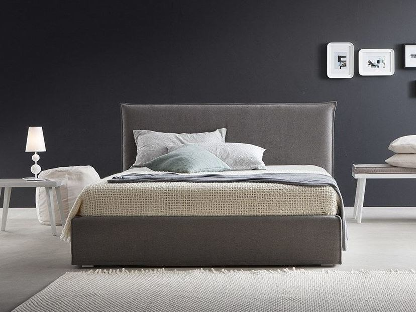 Fabric double bed with removable cover LUCREZIA | Double bed by Chaarme