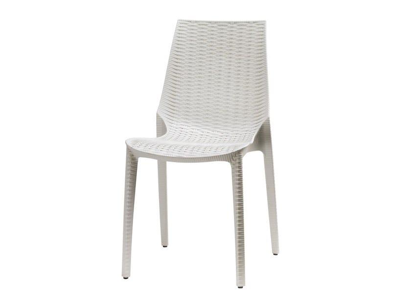 Stackable technopolymer garden chair LUCREZIA | Garden chair by SCAB DESIGN