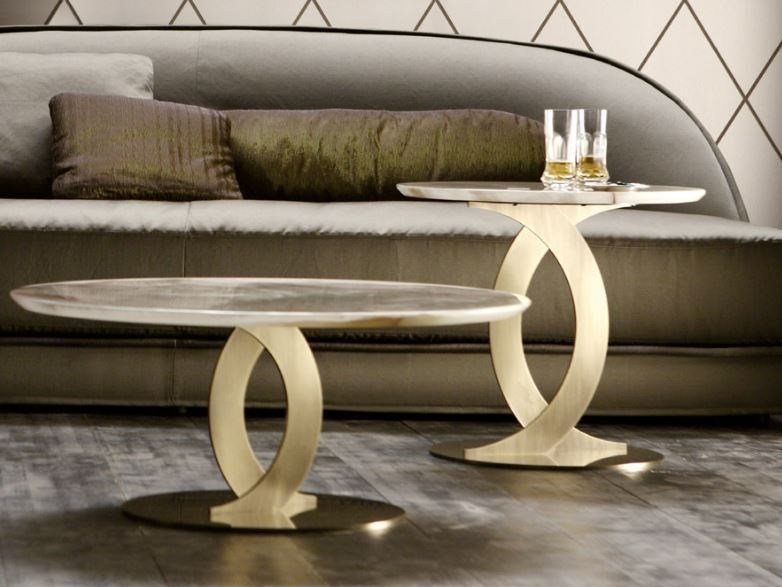 Round marble coffee table LUDMILLA by OPERA CONTEMPORARY