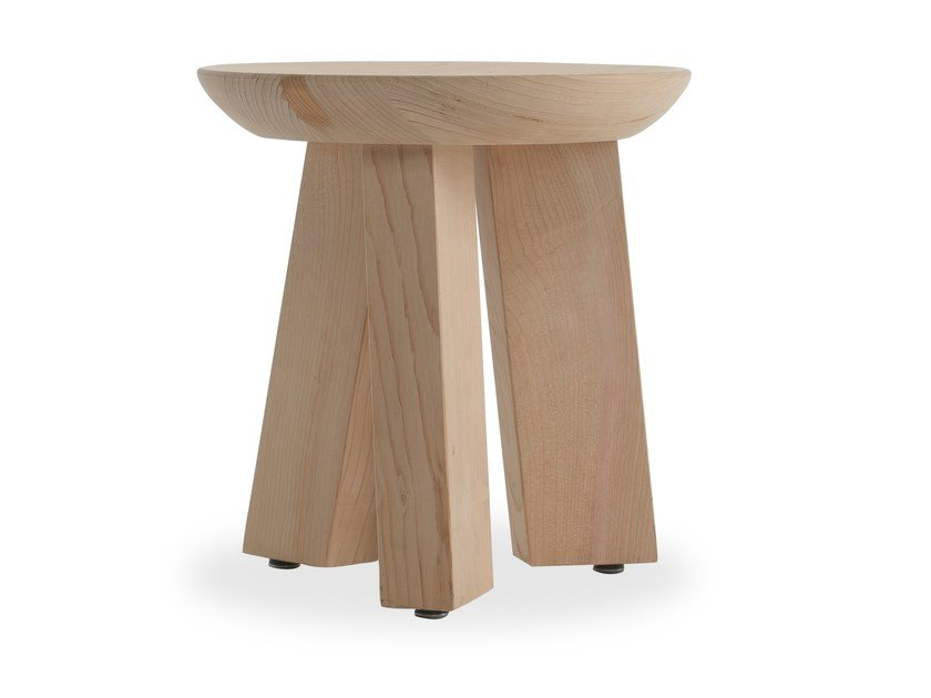 Solid wood stool LUDO by Riva 1920