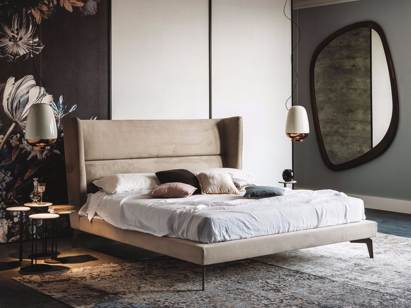 Double bed with upholstered headboard LUDOVIC by Cattelan Italia