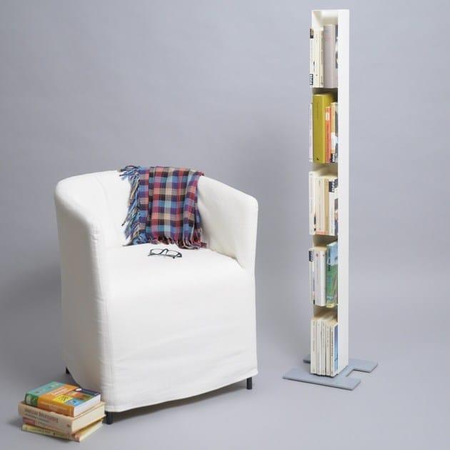 Freistehendes Bücherregal Aus Pulverbeschichtetem Stahl LUFT STAND By MOX
