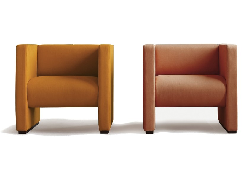 Fabric armchair with armrests LUGANO by Sancal