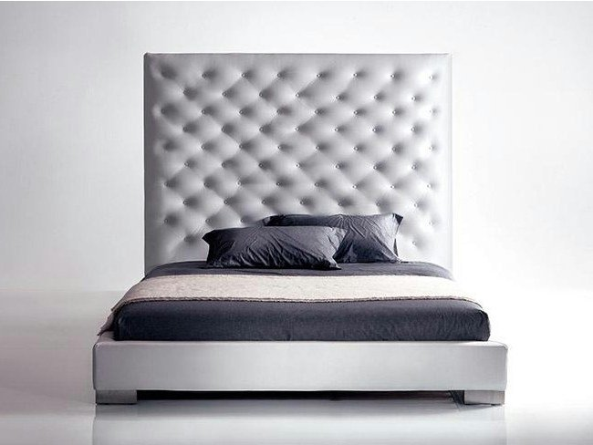 Bed with upholstered headboard LUIGI | Bed with upholstered headboard by Marac
