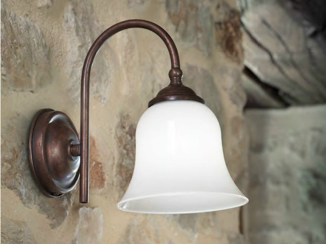 Glass wall lamp with fixed arm LUISA MILLER | Wall lamp with fixed arm by Aldo Bernardi