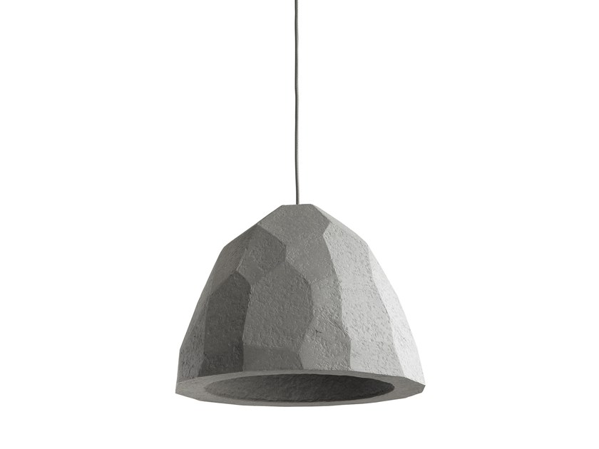 Direct light Recycled paper pendant lamp LUITAS by INDI
