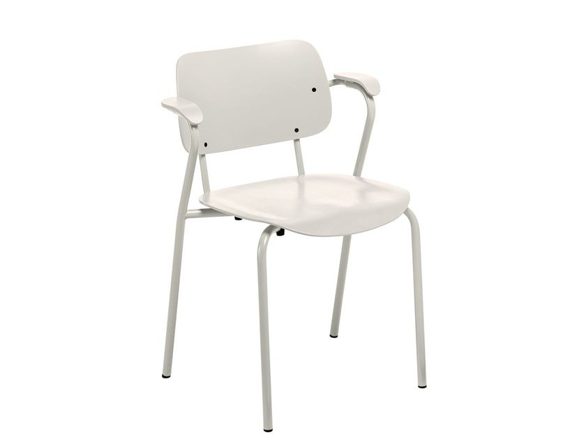 Stackable chair with armrests LUKKI | Chair by Artek