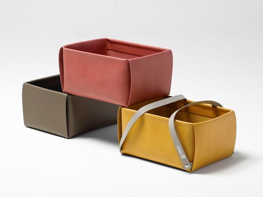 Leather storage box / bag LULLABAO by ManifestoDesign