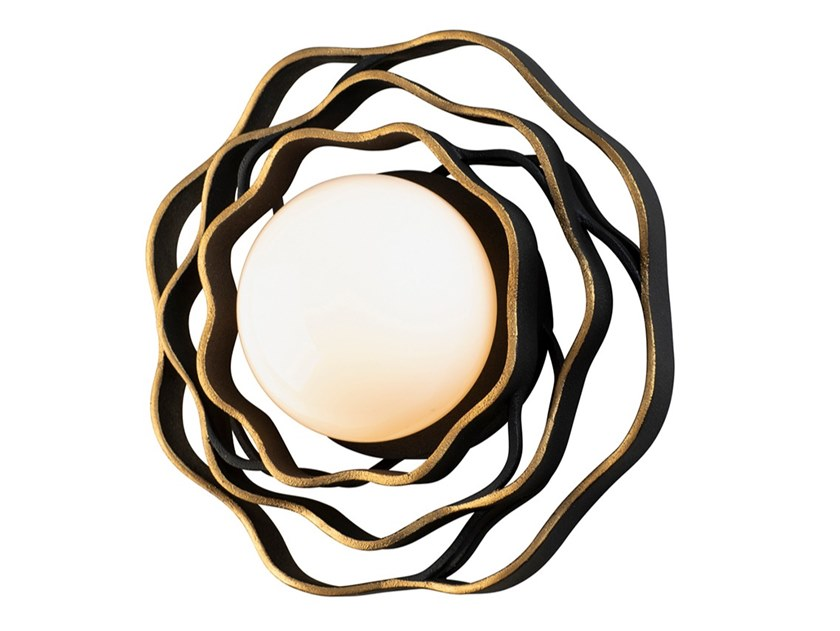 Wall lamp in metal and opal glass shade LUMA by Hudson Valley Lighting