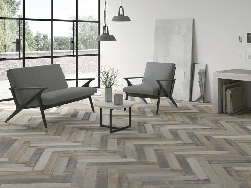 Pavimento/rivestimento effetto legno per interni ed esterni LUMBER by Harmony