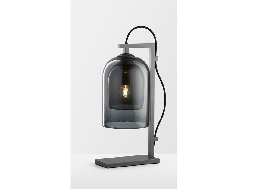Glass and steel table lamp LUMI   Table lamp by Articolo Lighting