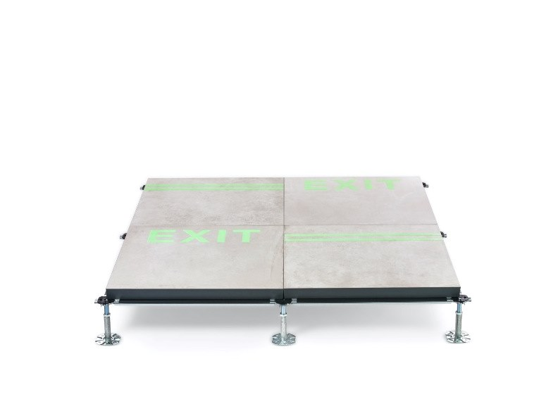 Indoor/outdoor Modular system for raised flooring LUMIFLOOR by NEWFLOOR