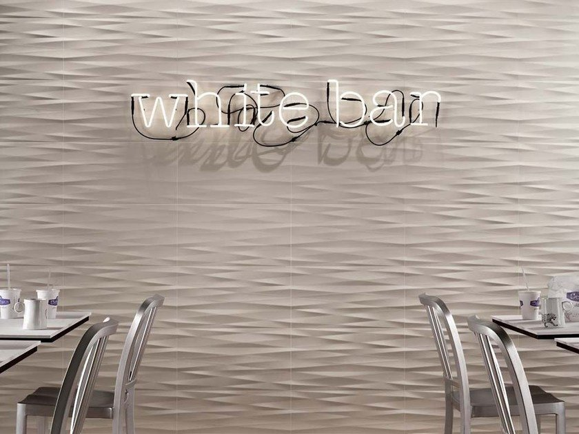 Indoor white-paste wall tiles LUMINA 30,5x56 by FAP ceramiche
